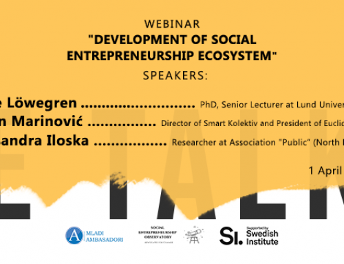 SE Talks Webinar – Development of Social Entrepreneurship Ecosystem