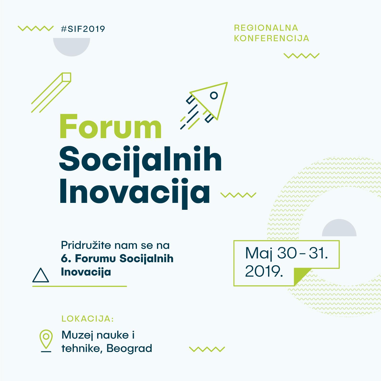 Otvorene prijave za učešće – pridružite nam se na Forumu socijalnih inovacija 2019!