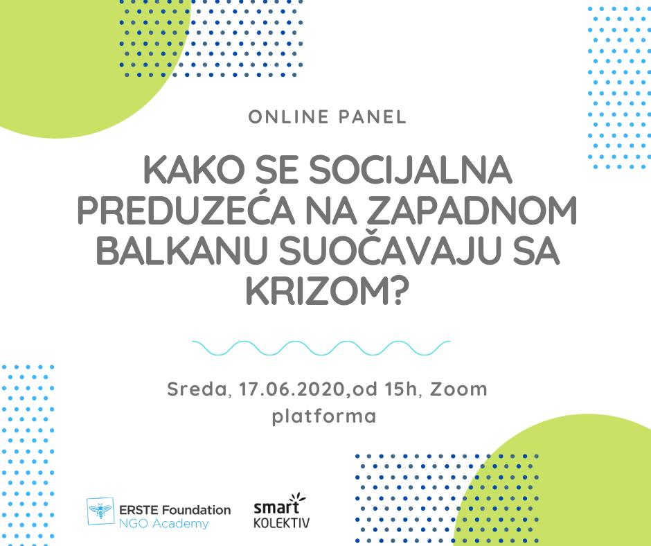 Online panel: Kako se socijalna preduzeća na Zapadnom Balkanu suočavaju sa krizom