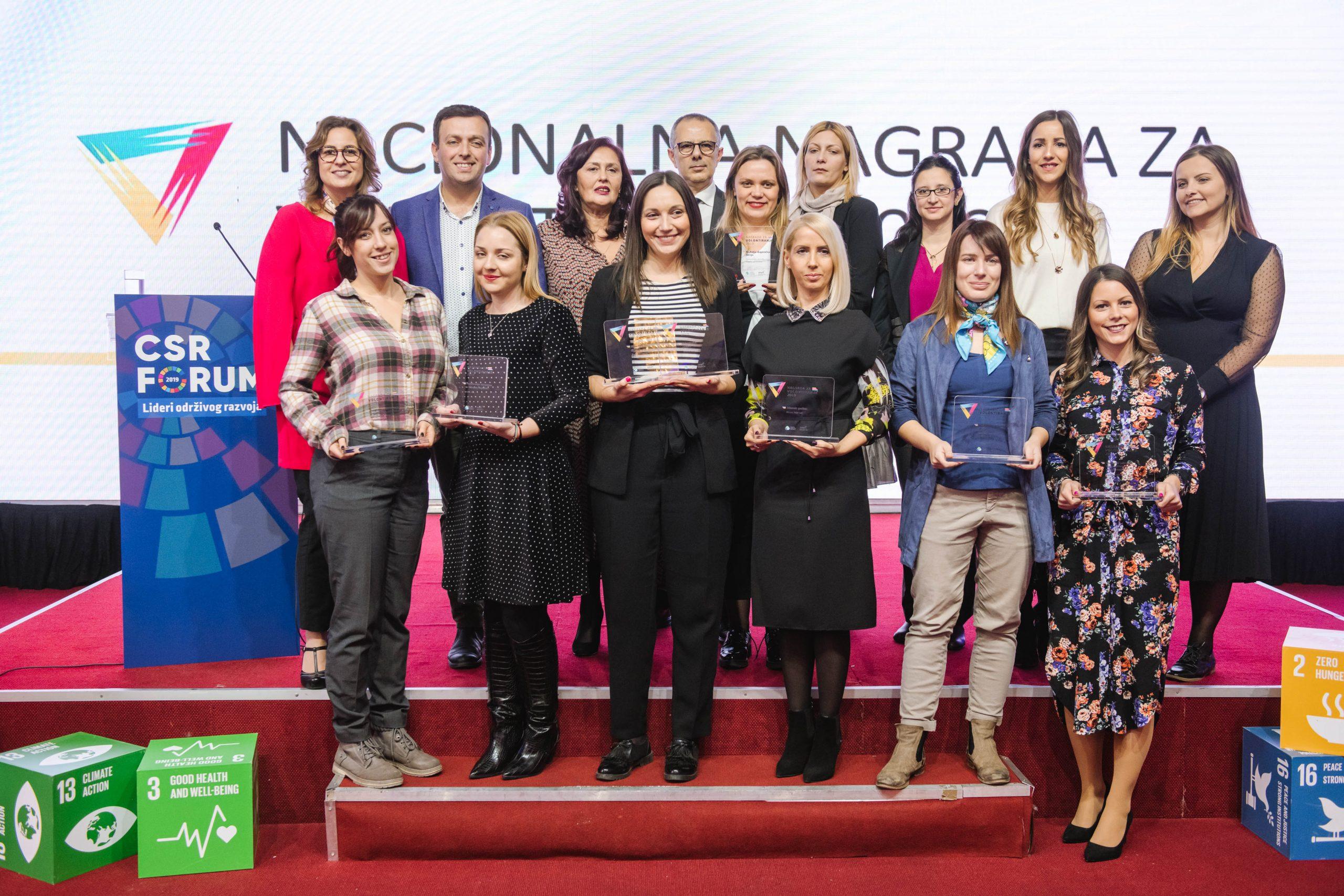 Proglašeni dobitnici Nacionalne nagrade za volontiranje 2019