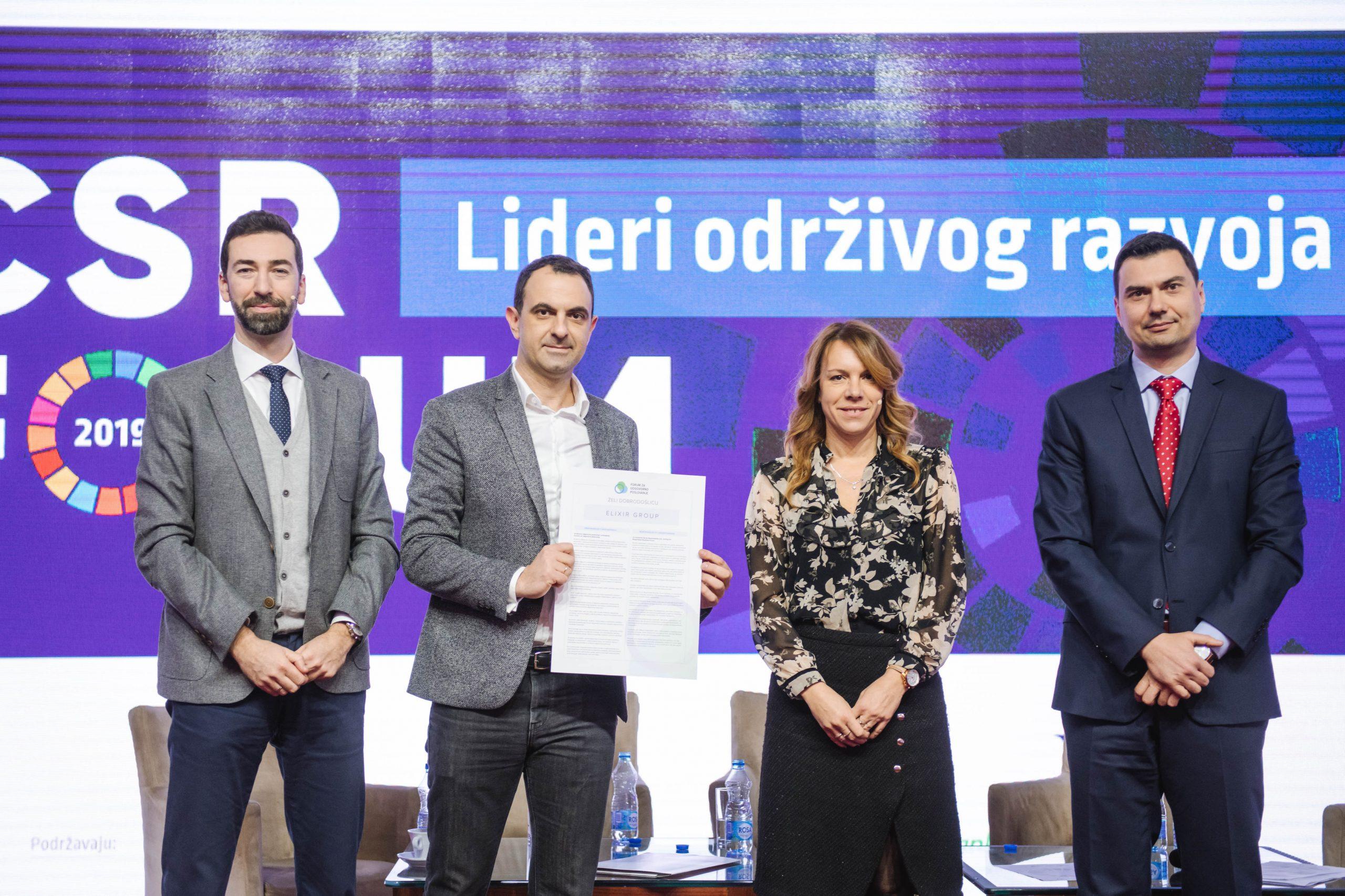 Kompanija Elixir Group nova članica Foruma za odgovorno poslovanje