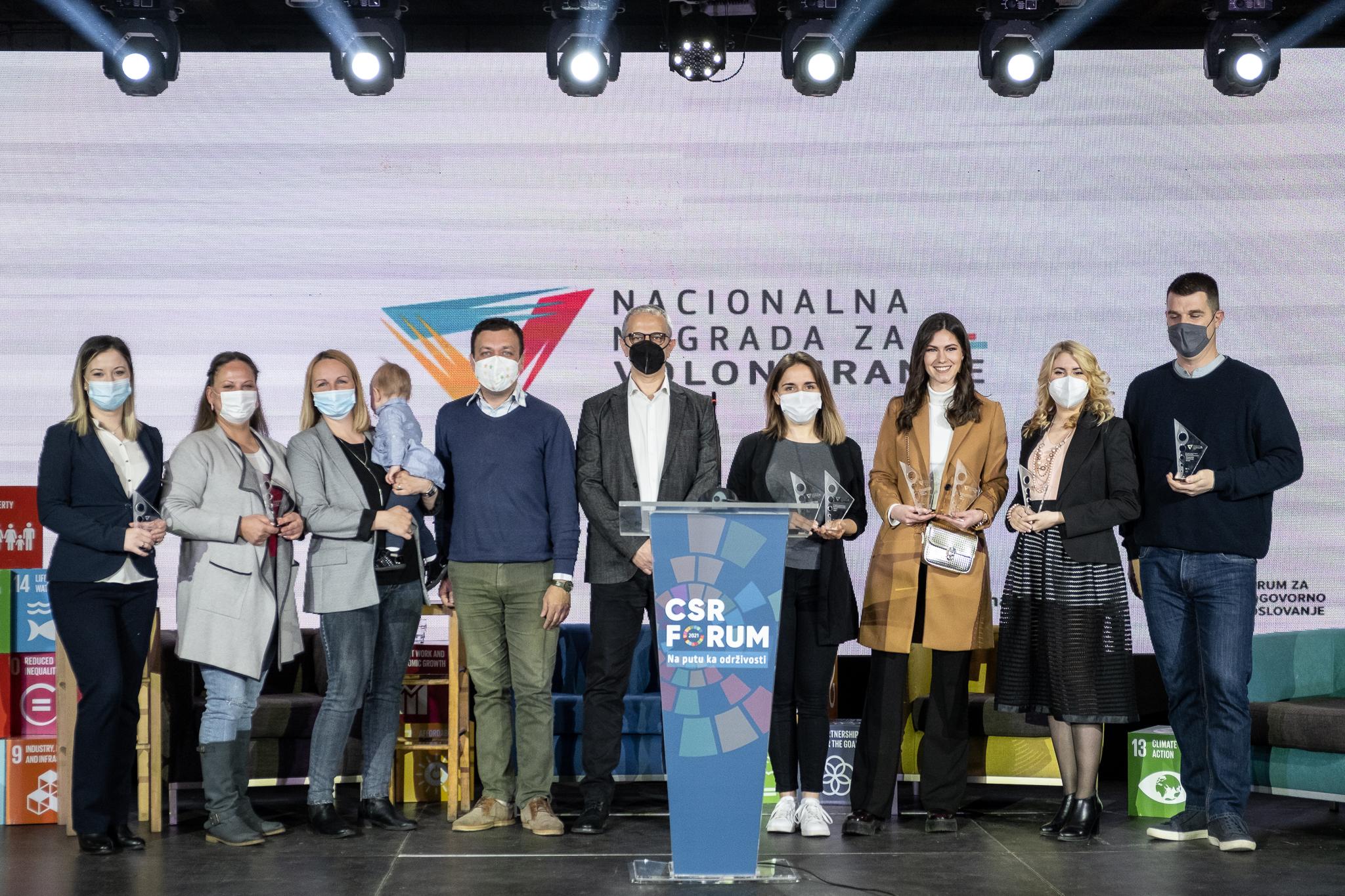 Dodeljena Nacionalna nagrada za volontiranje 2020