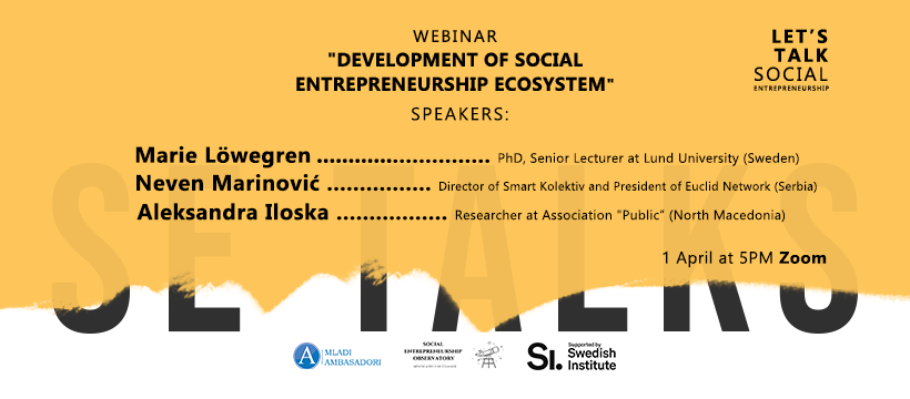 SE Talks Webinar – Development of Social Entrepreneurship Ecosystem